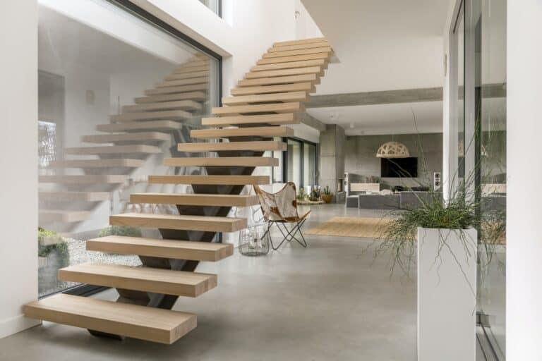 Stairs in modern villa